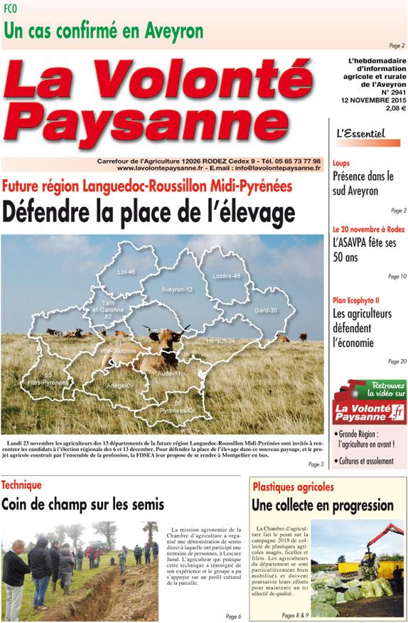 Jeudi 12 novembre lettre d 39 info vp n 85 - Chambre agriculture languedoc roussillon ...